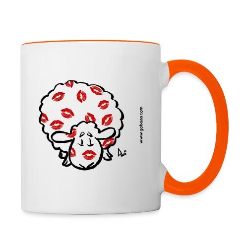 Kuss Mutterschaf - Tasse zweifarbig