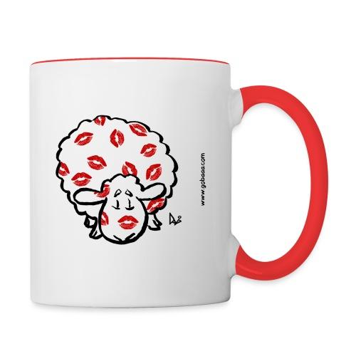 Kiss ewe - Contrasting Mug