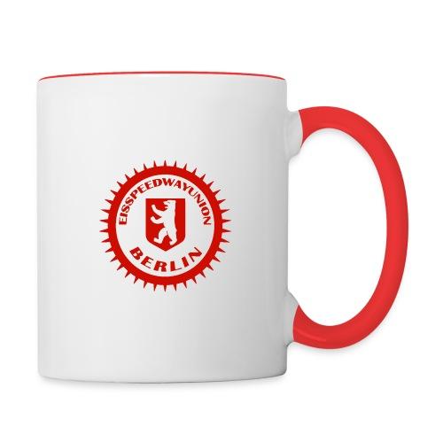 Logo in Rot Weiß - Tasse zweifarbig