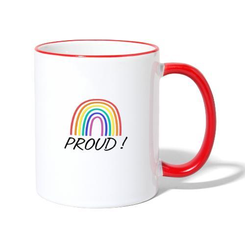 proud - Tasse zweifarbig