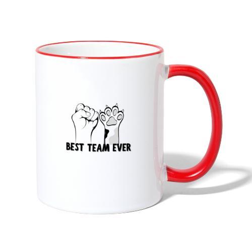 The Best Team Ever My And My Cat - Recxoo.com - Tofarvet krus