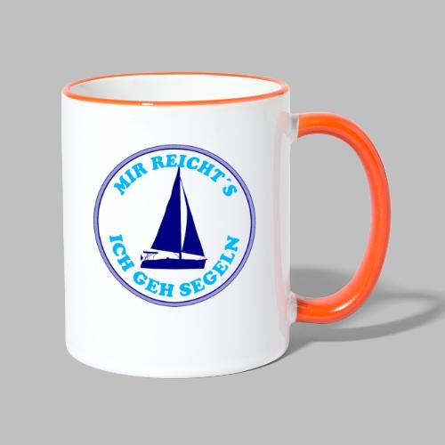 Segelboot Boote mir reichts ich geh segeln - Tasse zweifarbig