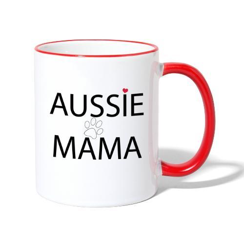 Aussie Mama - Tasse zweifarbig