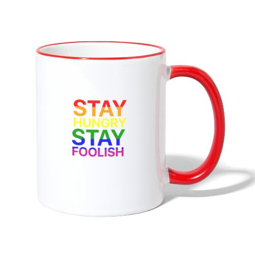 Stay Hungry, Stay Foolish - Tazze bicolor