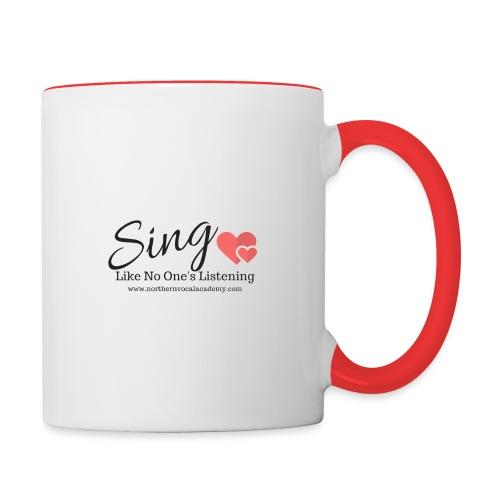 Sing Like No One's Listening - Contrasting Mug