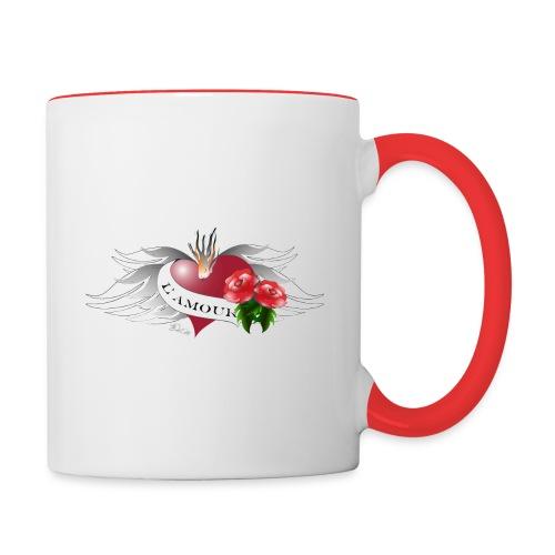 L' Amour - Die Liebe - Tasse zweifarbig
