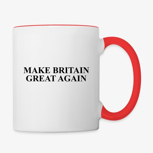 Make Britain Great Again (Black Text) - Contrasting Mug