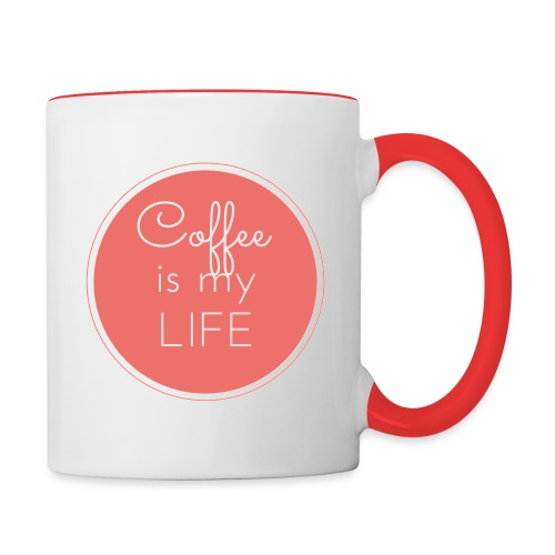 Coffee is my life - Taza en dos colores