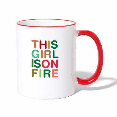 GIRL ON FIRE - Mug contrasté