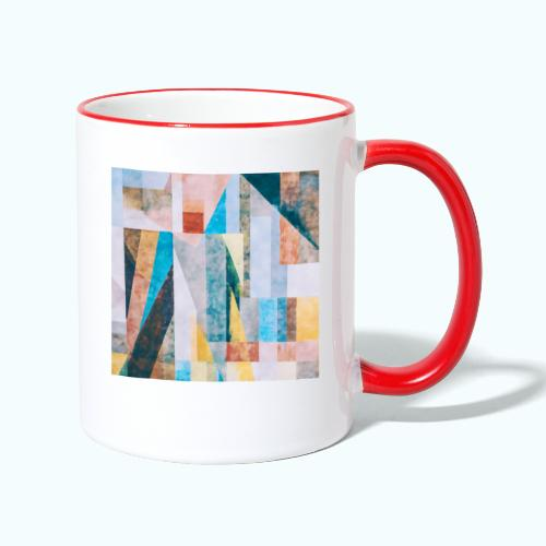 Abstract geometry watercolor - Contrasting Mug