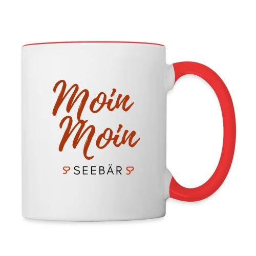 Moin Moin Seebär - Tasse zweifarbig