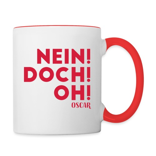 NEIN DOCH OH! - Tasse zweifarbig