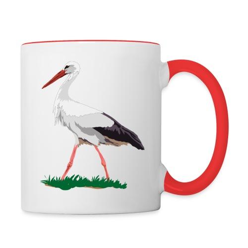 Weißstorch - Tasse zweifarbig