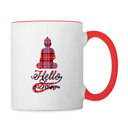 Hello Jon Red Tartan Homeware - Contrasting Mug