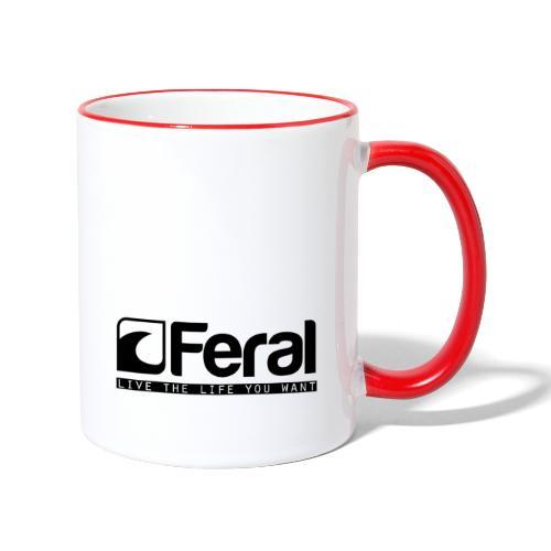 Feral Surf - Live the Life - Black - Contrasting Mug