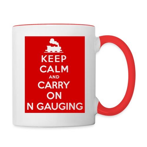 Keep Calm And Carry On N Gauging - Contrasting Mug