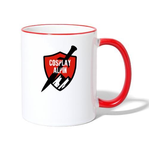 Cosplay Alpin Logo - Tasse zweifarbig