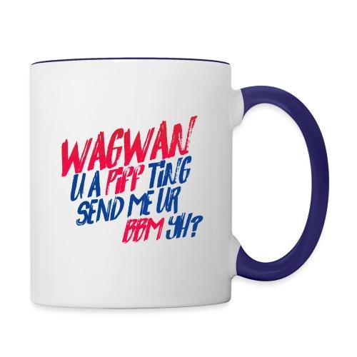 Wagwan PiffTing Send BBM Yh? - Contrasting Mug