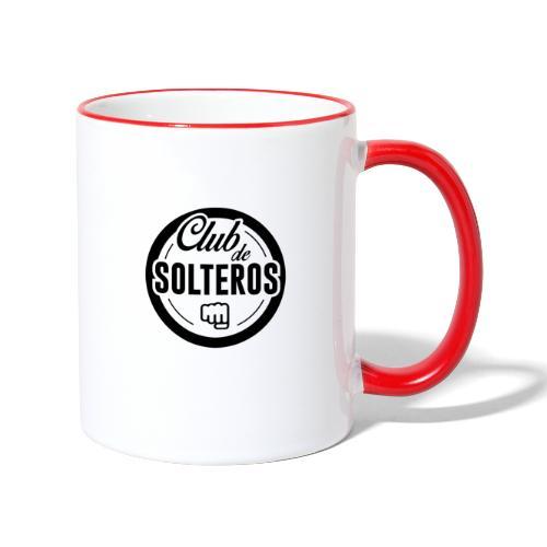 Club de Solteros (logo negro) - Taza en dos colores