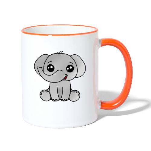 Elephant - Taza en dos colores