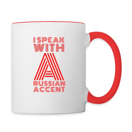 Russian Accent Big Red - Contrasting Mug