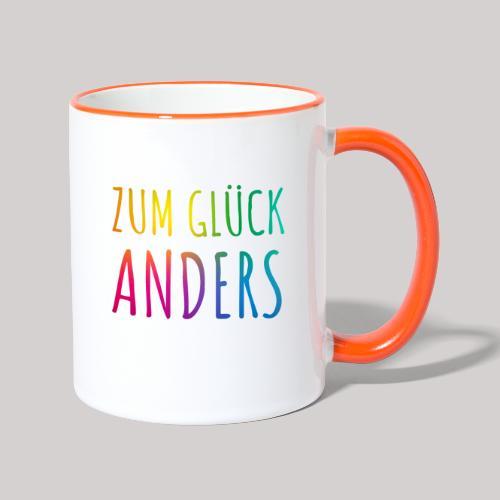 Zum Glück anders - Tasse zweifarbig