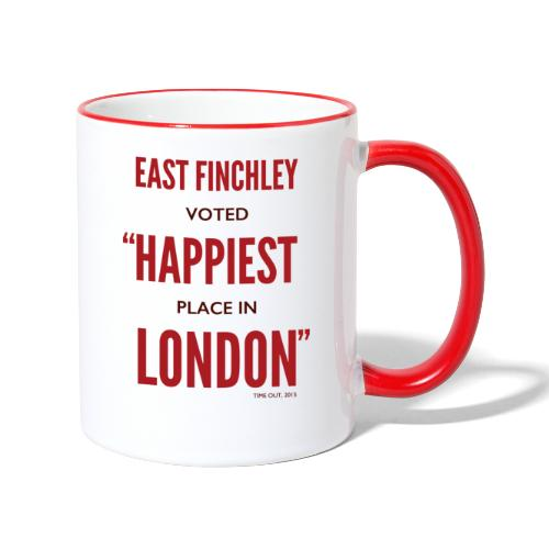 East Finchley Happiest Place in London - Contrasting Mug
