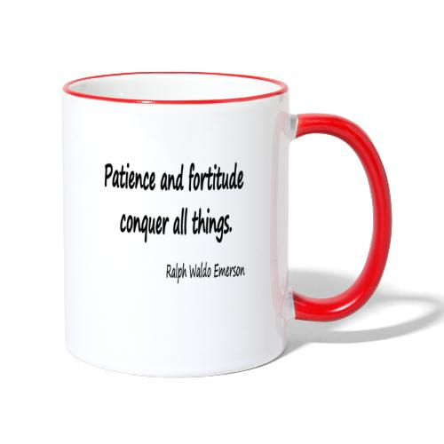 Peace and Patience - Contrasting Mug