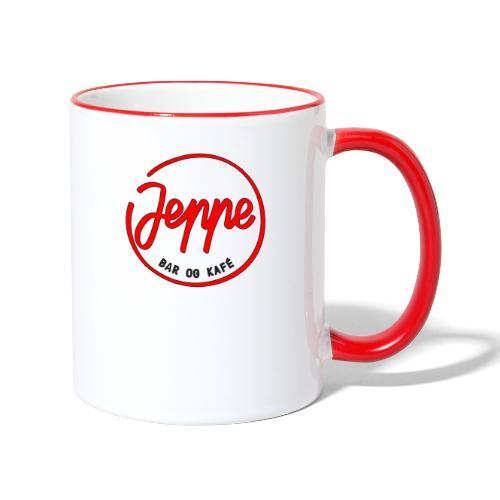 Jeppe rød logo - Tofarget kopp