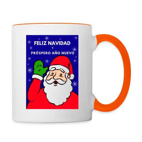 Taza navideña Santa Claus, Feliz NaNavidad - Taza en dos colores