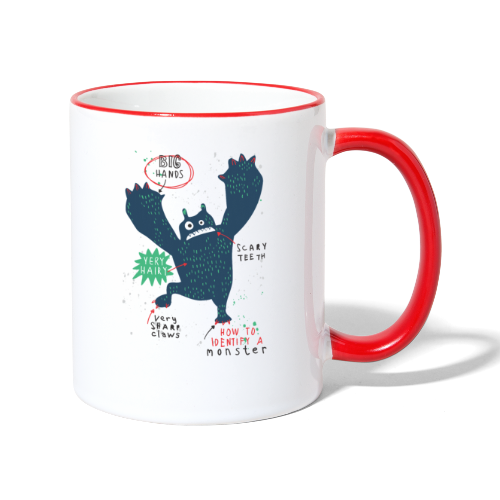 How To Identify A Monster - Contrasting Mug