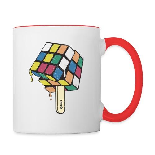 Rubik's Cube Ice Lolly - Contrasting Mug