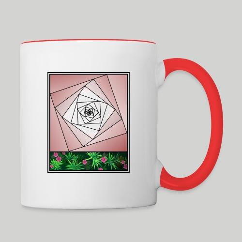 Unendlichkeitsrose - infinity rose - Tasse zweifarbig