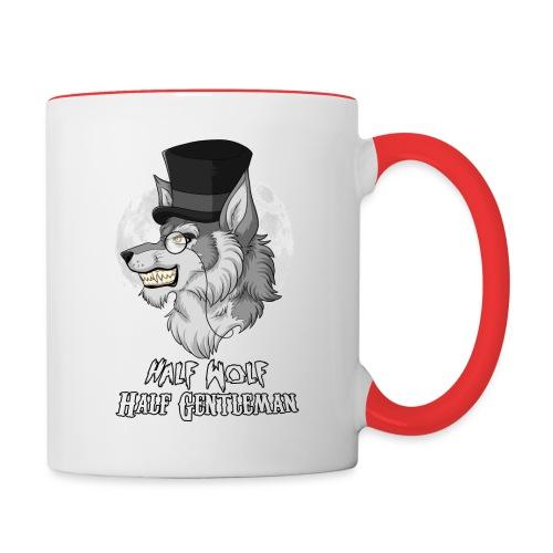 Half Wolf Half Gentleman - Kubek dwukolorowy