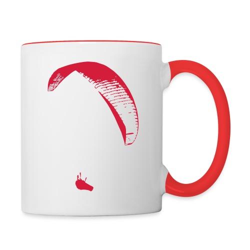 Gleitschirm - Tasse zweifarbig