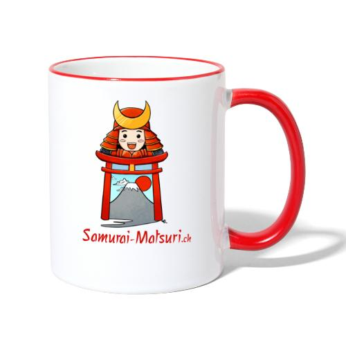 Samurai Matsuri Torii - Tasse zweifarbig