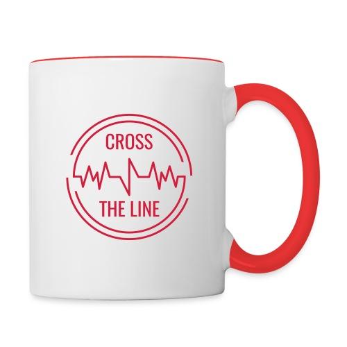CROSS THE LINE - Mug rouge - Mug contrasté