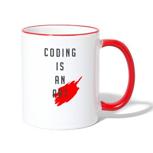 Coding is an Art - Tasse zweifarbig