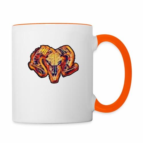bull on fire medio - Taza en dos colores