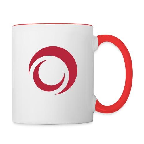 Doppelmond Logo - Monde - Tasse zweifarbig