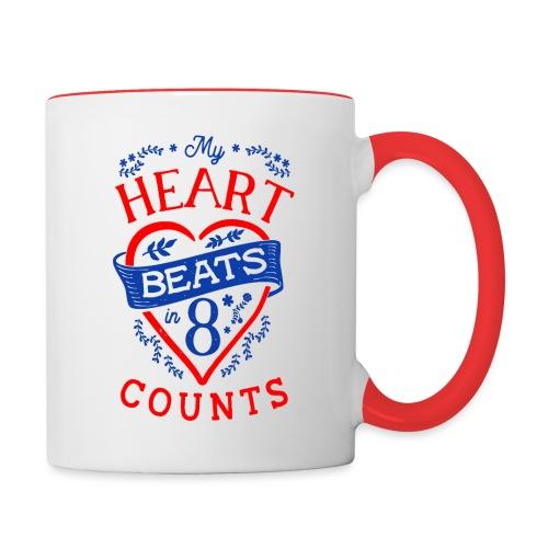 My Heart Beat - Tasse zweifarbig