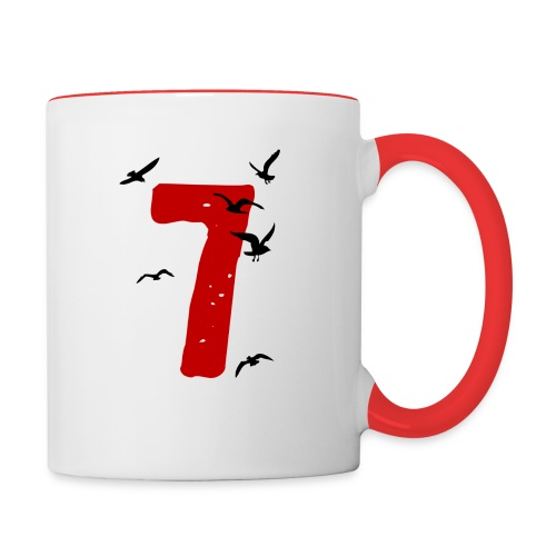 When the seagulls follow the trawler - Contrasting Mug