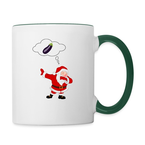 Père Noël aubergine - Mug contrasté