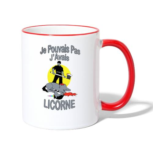 Je Pouvais pas j'avais Licorne (je peux pas j'ai) - Mug contrasté