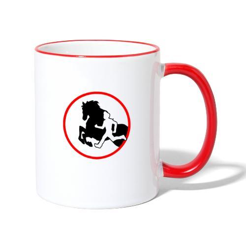 Horse Agility Logo - Tasse zweifarbig