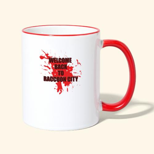 Welcome Back to Raccoon City TEXT 01 - Contrasting Mug