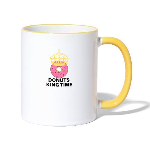 Mug Desing donuts king-Tazza Donuts King - Tazze bicolor
