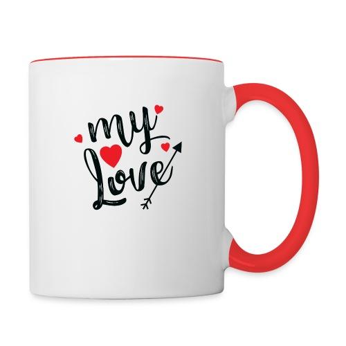 My love - Contrasting Mug
