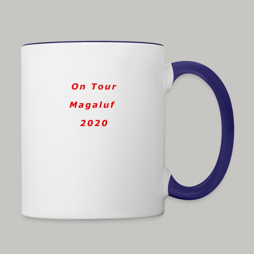 On Tour In Magaluf, 2020 - Printed T Shirt - Contrasting Mug