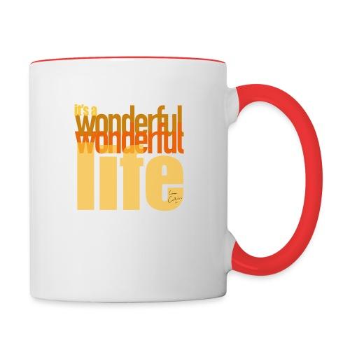 It's a wonderful life beach colours - Contrasting Mug